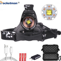 8000lm LED Headlamp XHP70 Farol poderoso USB Zoom High Power Power Head Lamp Tocha Cabeça Cabeça de Camping1
