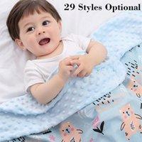 29 Peas de estilo Niños que reciben Swaddling Niños Cama para dormir Soft Newborn Swaddle Wrap Blue Blanket 201130