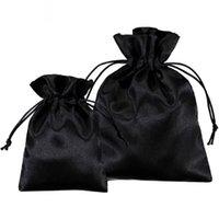 20pcs Sacos de Cetim Sacos Personalizado Embalagem de Jóias Bolsas De Maquiagem Partido Candy Silk Drawstring Sachet Bolso Reusável Saco Impressão Logo T200602
