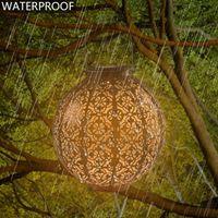 2V 40MA الشمسية ضوء التحكم التلقائي الحث حديقة الديكور في الهواء الطلق مصباح للماء حديقة ريترو مصباح الحديد الحارة لوحة للطاقة الشمسية الأبيض