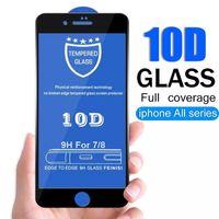 Protetores de tela de telefone 10 D filme completo é adequado para o Apple Pro 11 de 12 xr 7 8 p membrana temperada