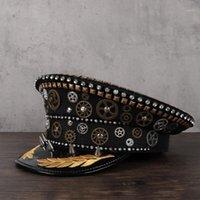 Steampunk chapéu mulheres homens artesanais punk fedora chapéu acrílico gemas largamente borda jazz cospaly tampa inverno panam sol top 2 tamanho1