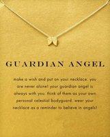 mignonne! Gold Beautywith Silver and Card! Collier Doques très couleur avec un pendentif différent, éléphant / os / karma / aile d'ange, livraison gratuite