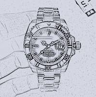 U1 fábrica 116610 Bamford Date Cerâmica Bezel Sapphire Vidro Automático Asiático 2813 Aço Inoxidável Jubille Bracalet Clasp Homens relógio mecânico