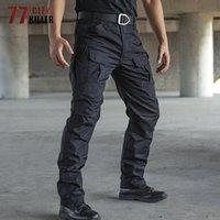 77City Katil Taktik Pantolon Erkekler Su geçirmez Combat Koşucular Erkek, çok cepli SWAT Kargo Stretch Çalışma Pantolon Hombre Boyut S-2XL X1116