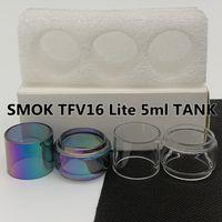 Smok TFV16 Lite 5 ml Tank Normal 2 ml Ampul Tüp Temizle Gökkuşağı Yedek Cam Tüp Kabarcık Fatboy 3 adet / kutu Perakende Paketi