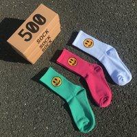 Мода Candy Color Drew Smiley Men Женская спортивная носка пара Cato удобные забавные носки SOX 3 пара / коробка