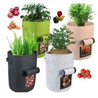 식물 성장 가방 집 정원 감자 냄비 온실 야채 성장 가방 보습 jardin 수직 정원 가방 도구 GWF5078