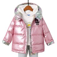 Children's Winter Jacket for Girls Warm Fashion Hooded Duck Down Coats Kids Jackets for Boys Double-sided Colorful Clothes Parka Y1113