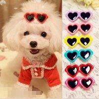 Pet Güzel Kalp Güneş Gözlüğü Tokalar Pet Köpek Yaylar Yavru Köpekler için Saç Klipleri Kedi Yorkie Teddy Dekor Pet Malzemeleri