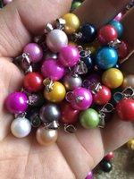 5 SZTUK Loose Edison Pearl Wisiorek 9-11mm Rozmiar w Losowej Słodkowodne Okrągłe Pearl Proste Wisiorki Mieszane Kolor Love Wish Najlepszy prezent dla kobiet