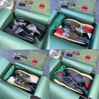 Los mejores hombres Rockrunner camuflaje zapatillas de deporte de camuflaje diseñadores de tela de malla entrenadores azules de cuero azul de cuero al aire libre zapatos casuales con caja de regalo 264