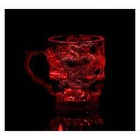 LED 라이트 루미 네스 캔스 와인 밝은 맥주 머그잔 빛나는 컵 다채로운 바 컵 드 Drago jllcye yeah2010