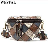 WESTAL Crossbody Shoulder Women's Mini Shell 088 Bags For Women Leather Desinger Patchwork Small Genuine Bag Messenger Rnopg