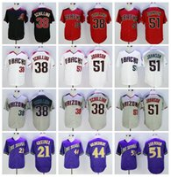 Vintage Cool Base 38 Curt Schilling Jersey Retire Baseball 44 Paul Goldschmidt 51 Randy Johnson 21 Zack Greinke Hombres cosidos