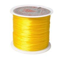 40m / rollo negro blanco elástico elástico elástico hilo elástico para el cordón de abalorios cuerda hilo de bricolaje pulseras de bricolaje collar JEHYR WMTFNC