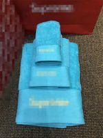 2021 Soft Designer Conjunto de toalla con caja de algodón Toalla Baño Juego de tres piezas Absoracciones de agua Toalla de baño suave