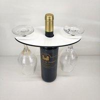 التسامي الأحمر زجاجة النبيذ حامل MDF فارغة نقل الحرارة الطباعة diy طباعة النبيذ الزجاج حامل المنزل الديكور حزب العرض