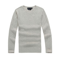 ralph lauren Hommes designer Twist Sweater Petite Cheval Mile Mile Wile Polo Brand Men's Twist Sweater Knit Coton Pull Pull Jumper Pull High Qualityo2v8