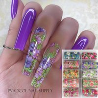 Flor Sticker Sticker Wraps Slider Water Transfer Decal Foils Foil Nail Art Decoration Acrylic Manicure Herramienta