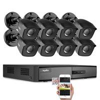 SINDE 8CH DVR 1080N SISTEMA CCTV grabador de video 4/8 PCS 2MP Seguridad para el hogar A prueba de agua Visión nocturna Cámara Kits de vigilancia LJ201208