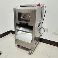 Vertikaler kommerzieller Fleischschneider für frisches Fleisch Gemüsescheiben Schnitt Seide Edelstahl Slicer1
