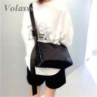 Volasss mulheres messenger ombro crossbody bolsas para fêmea preto moda textura saco de neararm saco senhoras bolso mujer sac main femme