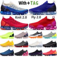2021 Top Quality Almofada Vapors Og Milhos Fly 2.0 Mens Running Shoes Designer Sapphire Azul Safari CNY Red Fuchsia Homens Mulheres Sneakers Treinadores Maxes Tamanho 36-45