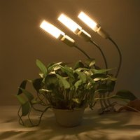 60W 5V Dimbar Tre-Head Flat Clip Corn Plant Grow Light Full Spectrum Warm White 3000K 132LED Silver (Faktisk Power 20W)