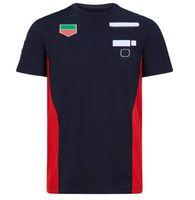 T-shirt da gara da corsa a maniche corte F1, uniforme da squadra in stile team, asciugatura rapida e t-shirt breve e traspirante personalizzata