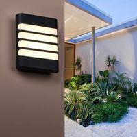 Luz de pared LED al aire libre impermeable IP65 COB LED Balcón Luces Moderno Decoración para el hogar Lámpara de pared de plástico interior para patio trasero Corredor Luz KHY-21