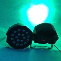Hot 18W 18-LED RGB Auto e Voice Control Party Stage Light Light Black Top Grade LEDs Luci di PAR Nuove e di alta qualità