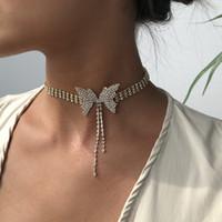 Collana corta a prua di diamante pieno moda moda moda cristallo collana girocollo per le donne gioielli festa di nozze