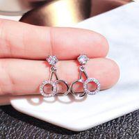 Baumleuchter S925 Sterling Silber Granat Ohrringe Frauen Feine Bizuteria 925 Schmuck Diamant Edelstein mit Kissen Zirkonia Drop Ohrrin
