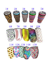 Iced Coffee Cup Sleeve Neoprene Insulated Sleeves Cup Cover For 30oz Tumbler Water Bottle With Carrying Handle Carrier Holder Bags Case