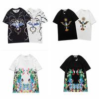Hombres causales Camisetas Moda Impresión personalizada Manga corta O Cuello T Shirts Hip Hop Streetwear Tshirts