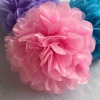 """Декоративные цветы венки ручной работы 6 '' 10 """"тканевая бумага цветок мяч Помпам для домашнего сада романтические свадьбы день рожденияweddi"""