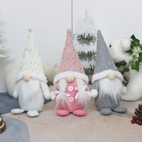 2020 Christmas Santa Gnome Plush Doll Ornament Xmas Elf Toys Holiday Home Party Decor Kids Gift HH9-3635