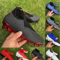 صندوق مزدوج رجالي أحذية كرة القدم الوهمية النخبة DF FG كرة القدم الأحذية السوداء الملكي الكامل مشحونة بورجوندي باريس كرة القدم المرابط أحذية رياضية