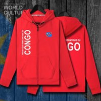 Dr Congo Cod DRC DROC Congo-Kinsha Congoleseメンズフリースパーカー冬カーディガン男性のジャケットとコートジッパートラックスーツ1