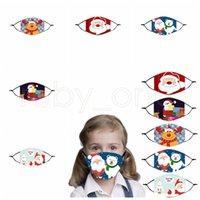 Máscara de festa de decoração de Natal feliz para crianças presentes de xmas fofos máscara facial reutilizável 2021 suprimentos de festa de ano novo RRA2402