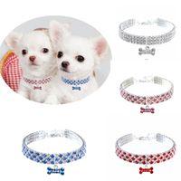 Accesorios para perros Joyas Perro Collar Collar Cuello Perrito Cuello Collar Bling Rhinestone Diamond Cat Collar Mascotas Mascotas Suministros