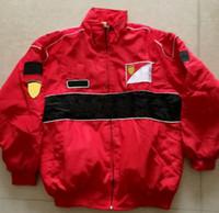 F1 Costume Racing Veste de style rétro Coton Casual Veste en coton d'hiver A052 A050 NOUVEAU Vêtements de cyclisme à coupe-vent d'hiver