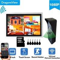 Dragonsview 1080 وعاء لاسلكي واي فاي الذكية الفيديو باب الهاتف إنترفون نظام شاشة تعمل باللمس شاشة RFID جرس الباب فتح سجل 1