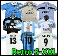 1989 1990 1991 1992 Lazio Retro Soccer Jerseys 1999 2000 2001 Nedved Simeone Salas Gascoigne Home Third Shirt كرة القدم Veron Crespo Nesta
