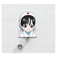 Sevimli Kore Rozeti Reel Geri Çekilebilir Çekme Toka KIMLIK Kart Rozeti Tutucu Makaraları Kemer Klipsi Hastane Okul Ofisi Supplie Jllwyh Sinabag