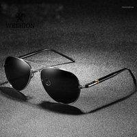 Weshion البيضاوي نظارات الرجال الاستقطاب الطيار العلامة التجارية مصمم الكلاسيكية ظلال القيادة الصيد نظارات الشمس 2020 uv40 zonnebril mannen1
