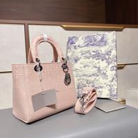 2021 Diseñador de alta calidad de lujo para mujer bolso de hombro de moda señora d-lite compruebe la bolsa de princesa bordada