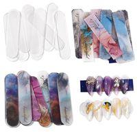 Bouts d'ongles acryliques Affichage Stand Professionnel Faux Nail Tip Orgainizer Strip pour Tableau Color Tableau Salon