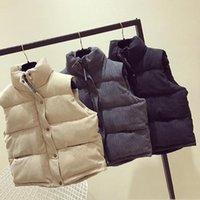 Corriendo chaquetas Mujer Chaleco de invierno Chaqueta de invierno Capa con capucha Capa de moda para mujer Chaleco de chaleco Gilet Outwear Solid Mantener cálido Tops